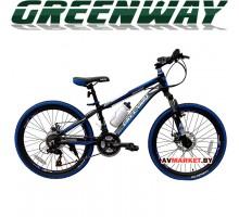 """Велосипед GREENWAY 4919M 24"""" горный для взрослых Китай черно-синий"""