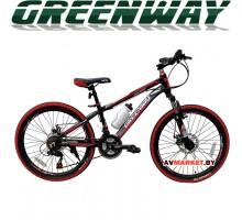 """Велосипед GREENWAY 4919M 24"""" горный для взрослых Китай черно-красный"""