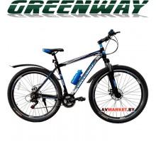 """Велосипед GREENWAY черно-синий 29M059-L 29"""" горный для взрослых Китай"""