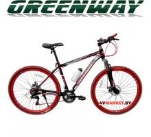 """Велосипед GREENWAY черно-красный 29M059-L 29"""" горный для взрослых Китай"""