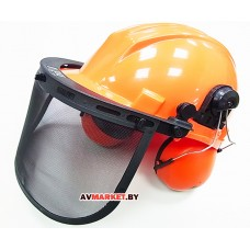 Шлем защитный со щитком и наушниками SM96756 Литва
