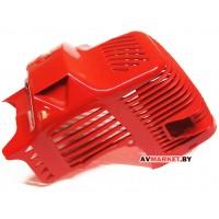 Кожух защитный цилиндра мотокосы(Коса КНР) (дефлектор с крышкой) ECO, Goodluck, Рысь, Orleon