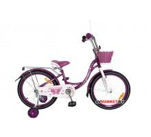 Велосипед дет двухкол FAVORIT мод BUTTERFLY BUT-20VL фиолет Китай
