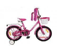 Велосипед дет двухкол FAVORIT мод LADY LAD-18MG т.роз Китай
