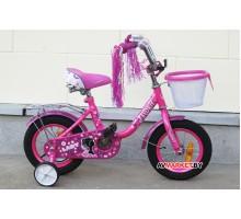 Велосипед дет двухкол FAVORIT мод LADY LAD-12RS роз Китай