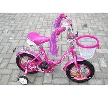 Велосипед дет двухкол FAVORIT мод LADY LAD-12MG т.роз Китай