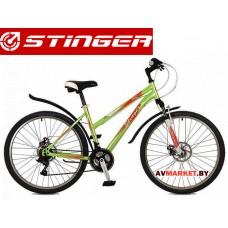 Велосипед Stinger 26 Latina D 15 зеленый TZ30/TY21/RS35 # 117307 26SHD LatinaD 15GN7 Россия
