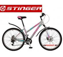 Велосипед Stinger 26 Latina D 15 серый TZ30/TY21/RS35 # 117309 26SHD LatinaD 15GR7 Россия