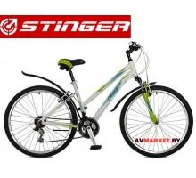 Велосипед Stinger 26 Element Lady 15 белый TZ30/TY21/TS38 # 117305 26AHV ELEML 15WH7 Россия