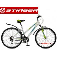 Велосипед Stinger 26 Element Lady 17 белый TZ30/TY21/TS38 # 117306 26AHV ELEML 17WH7 Россия
