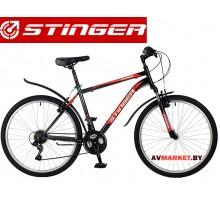 Велосипед Stinger 26 Caiman 14 черный TZ30/TY21/RS35 # 117275  Россия
