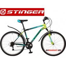 Велосипед Stinger 26 Caiman 14 зелёный TZ30/TY21/RS35 # 117271.26SHV CAIMAN 14GN7 Россия