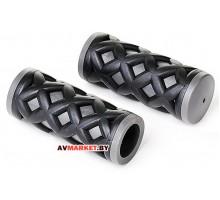 Грипсы (ручка на руль) HY-500-3G L-75 (чёрно-серый) 4031