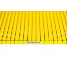 Сотовый поликарбонат 6мм (желтый) TitanPlast 6*2100*6000