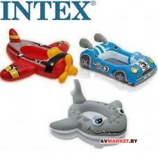 Прогулочные надувные лодки для бассейна (самолет рыбка гонка) 3-6 лет 3 цвета  59380NP Китай