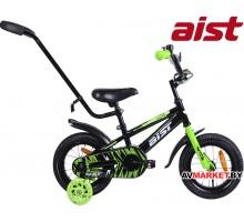 """Велосипед 12""""детский двухкалёсный Aist PLUTO чёрный Китай 2019"""