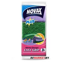 Губки кухонные профилированные 3шт NV Plus