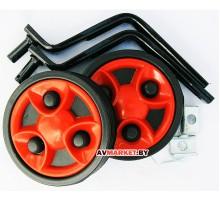 Колеса подст. вело (боковые)(пластм.) приставные универсальные 12-20