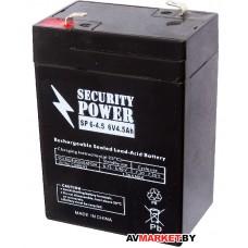 Аккумуляторная батарея Security Power SP 6-4.5 6V4.5h Китай 6-4,5 6