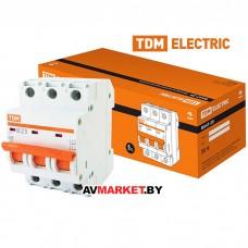 Автоматич. выключатель ВА47-29 3P 25A 4.5кА х-ка B TDM SQ0206-0044 Китай