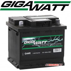 Аккумулятор GIGAWATT 45 Ah евр 400A  (207х175)