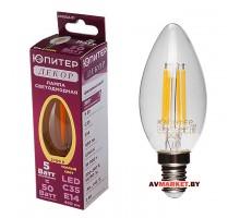 Лампа светодиодная С35 Свеча 5 Вт 220-240В Е14 2700K Юпитер декор JP6002-01