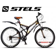 Велосипед 26 STELS Challenger V  Россия (черный ,серый,оранжевый)