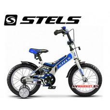 Велосипед 16 STELS JET бело синий