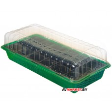 Мини-парник пластмассовый с 2 вставками 395х170х65 мм PERFECTO LINEA ПНП/2 Россия