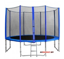 Батут с внутренней сеткой безопас и лестницей (длин. стойки) 14 футов 427см 14480L2YL Китай