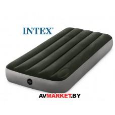 Надувной матрас Jr. Twin Downy 76х191х25 см встроенный ножной насос INTEX 64760 Китай