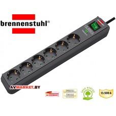Удлинитель/ фильтр сетев 1,5м (6 роз 3,3кВт с/з выкл ПВС)  Brennenstuhl Eco-Line 1159710 Китай