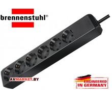 Удлинитель 1,5м (6 роз 3,3кВт с/з ПВС) черный Brennenstuhl Eco-Line арт. 1159400015 Китай