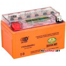 АКБ  Motoland gel 12B 7A-x с индикатором заряда