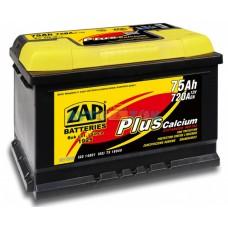 АКБ ZAP 57520 евр 75Ah 720A (275*175*190) plus