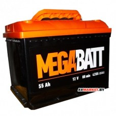 Аккумулятор Mega Batt  55А евро