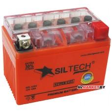 Аккумулятор СТ12в 4А YT4L-BS(130A)(гель) без индикатора GEL1204 Siltech