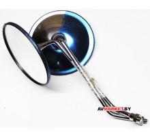 Зеркала Д120мм- д.8мм DELTA ALPFA DINGO круглые металлические полностью хром