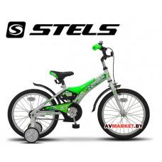 Велосипед 16 STELS JET бело салатный