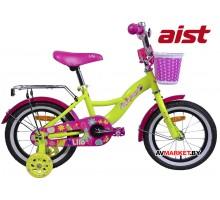 """Велосипед 14"""" двухкол для детей Aist LILO желтый 2019 4810310003976"""