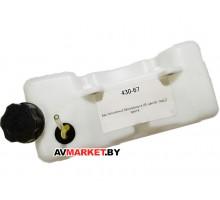 Бензобак для миникультиватора прямая заправка LIDER BC415 крепл 2 болта TH430 Китай 430-67