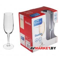 Набор бокалов для шампанского 6 шт. 170 мл 192*52 мм серия llusion VINTIA (V051340) Испания
