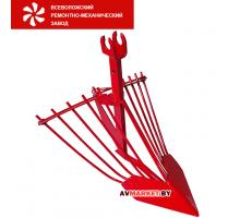 Картофелевыкапыватель С1 (стойка 16мм 1 отв) 45 см узкий нос регулир. красный Россия