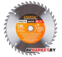 Диск пильный 190*30/20/16мм 40 зуб. по дереву STARTUL ST5062-40 Китай