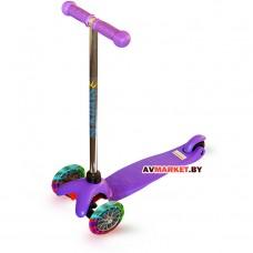 Самокат для детей SA-100s-5 фиолетовый Латвия