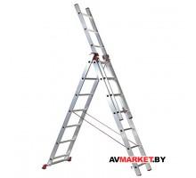 Лестница алюм. 3-х секц. 258/539/378 см 3*9 ступ 13.0 кг iTOSS Helper 6609