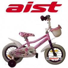 Велосипед двухколесный для детей Aist WIKI 16 бел,покр,РОЗОВЫЙ+корзи