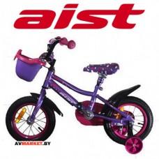 Велосипед двухколесный для детей Aist WIKI 16 чер,покр,ФИОЛЕТ+корзин