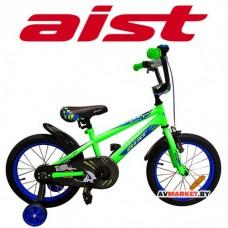 """Велосипед двухколесный для детей Aist PLUTO 16"""" зелёный"""