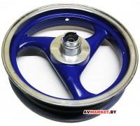 Диск переднего колеса скутер 2,5*12 б/кам синий